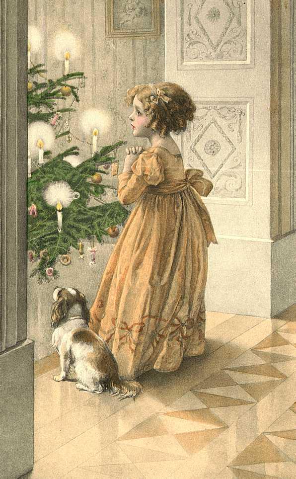старинные новогодние открытки фото